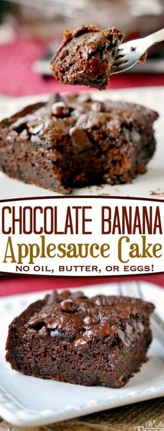 Hypoallergenic Pet Dog Food Items Diet Program This One-Bowl Chocolate Banana Applesauce Cake Is Made Without Oil, Eggs, Or Butter And Is Perfect For Snacking Beautifully Moist And Perfectly Decadent, You Won't Even Miss The Frosting Mom On Timeout Vegan Sweets, Healthy Desserts, Healthy Baking, Delicious Desserts, Yummy Food, Jamaican Desserts, Healthy Cake Recipes, Yummy Snacks, Diabetic Recipes