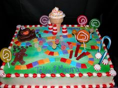 not the only one who thought of candy land themed 1st birthday party! This cake will be so much fun to make: )