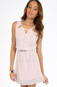 Trying Triangle Cinched Dress $33 at www.tobi.com