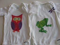Baby Shower Activity - Decorating Onesies with Freezer Paper Stencils