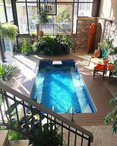 Swimming pool,indoor,design pool backyard 40 Incredible Small Indoor Pool Design Ideas For Cozy Summer At Your Home - Page 26 of 41 - LoveIn Home Pool Spa, Amazing Swimming Pools, Small Swimming Pools, Luxury Swimming Pools, Luxury Pools, Small Pools, Swimming Pools Backyard, Swimming Pool Designs, Pool Landscaping