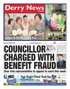 Derry News 18 May 2015 edition - Read the digital edition by Magzter on your iPad, iPhone, Android, Tablet Devices, Windows 8, PC, Mac and the Web.