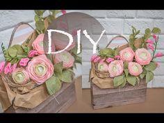 Ранункулюсы из гофрированной бумаги, цветы из бумаги DIY Tsvoric - YouTube
