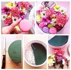 Цветы, цветочная композиция, Челябинск, Россия, макарунс, сладости, сделай сам, очумелые ручки