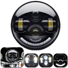 62063 motorcycle-parts 5.75 3/4 Motorcycle Black Projector Daymaker LED Light Bulb Headlight for Harley  BUY IT NOW ONLY  $125.49 5.75 3/4 Motorcycle Black Projector Daymaker LED Light Bulb Headlight for Harley...