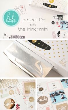 A great post by showing how to use the Mini Minc for Project Life pages Scrapbook Page Layouts, Scrapbook Pages, Minc Machine, Project Life Scrapbook, Deco Foil, Project Planner, Heidi Swapp, Craft Corner, Planner Organization