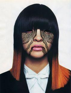 If It's Hip, It's Here: Voodoo Queens; Facial Masks Doodled By Illustrator Nina Chakrabati. Body Modifications, Skin Art, Facial Masks, Face Art, Face And Body, Halloween Face Makeup, Illustration Art, Beautiful, Body Art