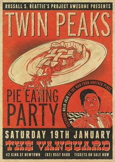 What a great idea! TWIN PEAKS PIE EATING PARTY!