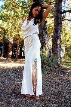 Nymph Dress Tribal Fairy Long Dress open back dress by ZhenNymph