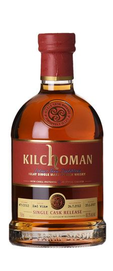 "Kilchoman ""K&L Exclusive"" Single Red Wine Barrel Cask Strength Single Malt Whisky - SKU Cigars And Whiskey, Scotch Whiskey, Wine Cask, Bordeaux, Single Malt Whisky, In Vino Veritas, Wine And Beer, Wine And Spirits, Alcoholic Drinks"