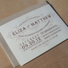 Vintage Wedding Invitation Rustic Invitation by JenSimpsonDesign, $3.75