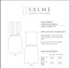 Pleat Front Sleeveless Dress 119 - salme