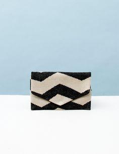 Hansel from Basel Zig Zag Envelope- Black/White