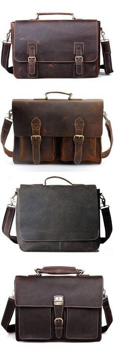 Handmade Vintage Leather Briefcase / Messenger Bag / Satchel / Backpack / Laptop Bag, Men's Bag Women's Bag