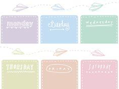 day planner printable | Goodnight Little Spoon: Freebie | Printable Weekly Planner