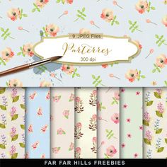 New Freebies Kit of Backgrounds - Parterres:Far Far Hill - Free database of digital illustrations and papers