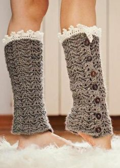 Crochet for inside boots with trim showing