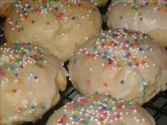 Let's talk cookies! And we're talkin' about the Anginette. They are the little round soft vanilla cookies with icing and sprinkles. Remember these?We posted a picture of them on our Facebook page and found out some really great information. Some people call them Wedding Balls or Longinettes and even Taralis. We had never heard of those names, but love it! Our friend Regina DeSimone says her family calls them Dedulutes, (we can't even say it), and shared her frosting tip... by heating the…