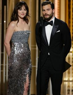 Everything you need to know about Fifty Shades of Grey stars Jamie Dornan & Dakota Johnson's appearance to present an award at the 2015 Golden Globes!