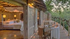 Take Your Trip to the Next Level at a Tree-House Hotel Swiss Family Robinson on Safari &Beyond Lake Luxury Tree Houses, Cool Tree Houses, Four Season Tent, Treehouse Hotel, Treehouse Wedding, Treehouse Ideas, Lodges, National Parks, Southeast Asia
