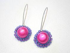 """Ohrringe """"SuperNova"""", leuchtend Pink von BlackSheepFactory auf DaWanda.com"""