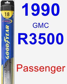 Passenger Wiper Blade for 1990 GMC R3500 - Hybrid