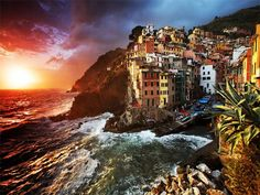 Riomaggiore Village, Cinque Terre, Italy an Beautiful Places In The World, Places Around The World, Oh The Places You'll Go, Great Places, Places To Visit, Amazing Places, Italy Vacation, Vacation Trips, Dream Vacations