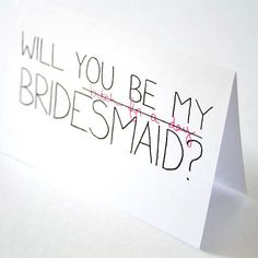 Will You Be My Bridesmaid Card Black Pink White par JulieAnnArt, $4,00