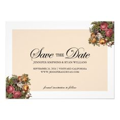 VINTAGE FLORAL DECOUPAGE SAVE THE DATE by the Antique Chandelier © Jennifer Clarke 2014. Pin to your #floral #wedding inspiration boards! Customize and purchase at http://www.zazzle.com/vintage_floral_decoupage_save_the_date-161762416103150137?rf=238589399507967362