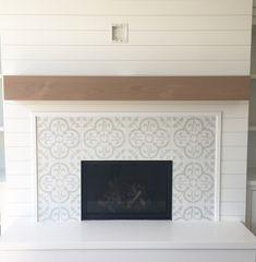 46 impressionante sala de estar com lareira Design Ideas - Living Room - Home Fireplace, Fireplace Remodel, Home Remodeling, Wooden Fireplace, Fireplace Mantels, Fireplace Wall, Living Room With Fireplace, Modern Tiles, Fireplace Frame
