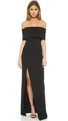 Nicholas Bandage Off Shoulder Gown
