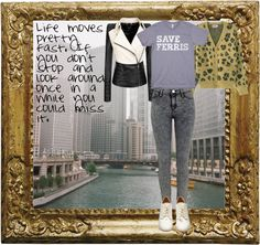 """""""Ferris Bueller's Day Off: Ferris Bueller"""" by lieslzhenderson ❤ liked on Polyvore"""