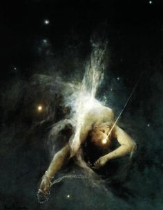 Witold Pruszkowski (1846-1896), Falling Star, 1884, Oil on canvas.(National Museum, Warsaw, Poland)