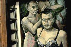 El artista que pintó a Putin en ropa interior femenina pide asilo en Francia