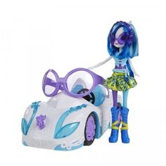 My Little Pony Equestria Girls Rainbow Rocks DJ Pon-3's Rockin' Convertible with Doll from Hasbro