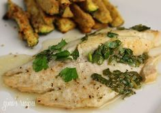 Classic sauce of butter, lemon and fresh parsley goes perfect with any fish. I try to eat fish twice a week. For a quick healthy dinner on a busy weeknight, this is simple and delicious.    Baked Garlic Lemon Tilapia  Gina's Weight Watcher Recipes Servings: 6 servings • Points  : 5 pts • Smart Points: 3 Calories: 199.5 • Fat: 7.2 g • Carb: 1.0 g • Fiber: 0.1 g • Protein: 33.4 g • Sugar: 0 g Sodium: 29.0 mg  Ingredients:   6 (6 oz each) tilapia filets  4 cloves garlic, crushed 2 tbsp butter 2…