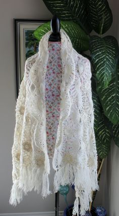 Ready to ship /GORGEOUS Angora Ivory Sparkle Handmade by ufer, $85.00