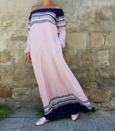 Lovely Maxi Dress from our SS2017 Collection! Adorable viscose fabric, maxi fit and elegant look, this dress feels like a second skin.The most comfy fabric! The perfect maxi dress for hot Summer days! Wear you long sleeve dress as a day dress, for the beach as a coverup dress, as a party dress with a belt on your waist! Wear it with sandals , balerinas , flats , platforms , high heels ♥  Fabrication : LIGHT VISCOSE FABRIC - SO SOFT AND EASY TO WEAR !   COLOR : PINK , WHITE and BLUE ♥   SIZE…
