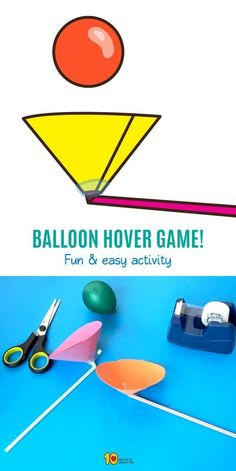 Balloon Hover Game - 10 Minutes of Quality Time - - Balloon Hover Game – 10 Minutes of Quality Time Science for z kiddos Balloon Hover Game – Science for Kids Science Games For Kids, Rockets For Kids, Balloon Games For Kids, Mind Games For Kids, Science For Kindergarten, Science Daily, Educational Games For Kids, Dinosaur Activities, Toddler Activities