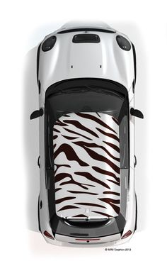 Tiger MINI roof graphic | MINI art cars | custom mini cooper | custom cars | mini mods | mini cooper love | miniac | Schomp MINI