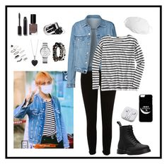 """Airport-Fashion (Taehyung Style)"" by parkjiminie ❤ liked on Polyvore featuring River Island, J.Crew, Dr. Martens, Kenneth Cole, Tommy Hilfiger, BERRICLE, Topshop, PhunkeeTree, Chanel and Bobbi Brown Cosmetics"
