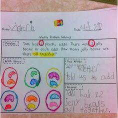 Kindergarten Math Portfolio: weekly problem solving