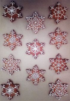 Iced snowflake Christmas mixed spice biscuits