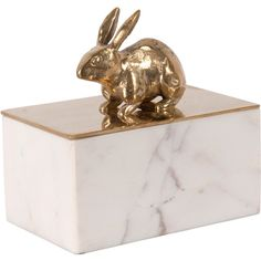 Peter Rabbit Gold White Marble Decorative Box ($219) ❤ liked on Polyvore featuring home, home decor, small item storage, gold box, gold home accessories and gold home decor
