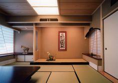 会員制料亭の和室。 アーチを描いた下がり壁と障子のデザインが斬新です。|和室|インテリア|おしゃれ|自然素材|