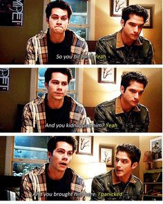 """I have pinned it before but I'm pinning it again because this verifies that Scott is a terrible planner and needs Stiles for that. I love how in 6A the plan boiled down to: """"get Stiles back and he'll know how to fix it. Because he always knows how to fix it!"""""""