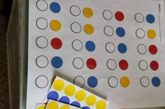 Using stickers for patterns and counting