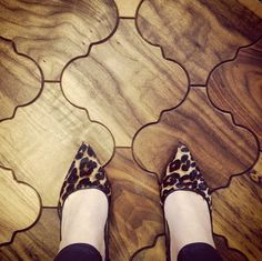 A leopard never changes his spots! This floor is stunning in walnut. #floorcorenashville