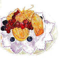 ~Le gouter d'enfant~#sweets #ilustration #dolce #watercolor #delish #bakedgoods…
