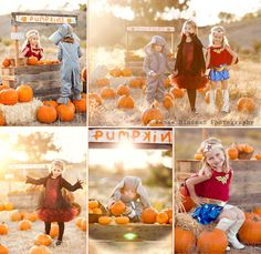 LOVE fall time pictures with the pumpkins
